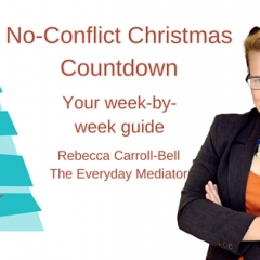 How to Have a  No-Conflict Christmas. Free Guide.