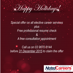 2015 special offer on elective career services till 31 December 2015