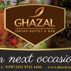 Functions Room Hire, Special Events at Ghazal,  Indian Buffet & Bar