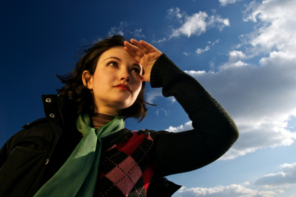 Picture of woman looking ahead